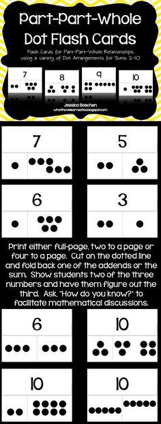 Part-Part-Whole Dot Flash Cards