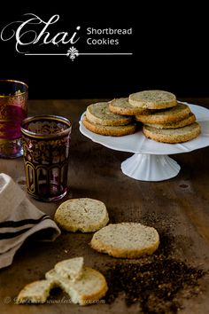 Chai Shortbread Cookies #recipe | Delicieux