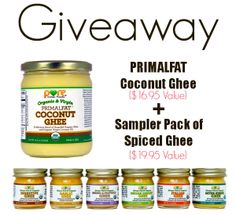 Organic Ghee Giveaway - $40 Value! | The Coconut Mama