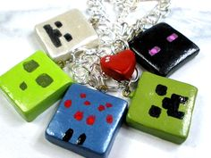 Mine craft charms