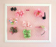 Organize hair bows
