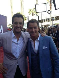 Luke Bryan  Easton Corbin OMG two handsome guys that can sing to me ANYDAY ❤