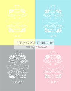 Blooming Homestead: printables