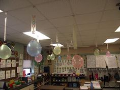 Count down to the last day of school... pop a balloon each day and do the activity inside