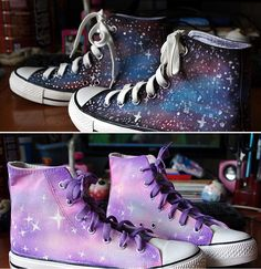 Galaxy shoes!!!!!!! I love them especially since they're Converse.