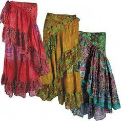 Floral Gypsy Wrap Skirt.