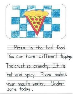 OPINION WRITING MENTOR TEXTS IN FIRST GRADE: WHAT IS THE BEST FOOD? - TeachersPayTeachers.com