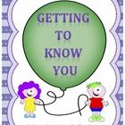 Getting to Know You: A Social Skills Activity.