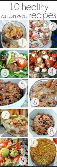10 Deliciously Healthy Quinoa Recipes | Our Home Sweet Home salad, dinner, quinoa recipe, foodies, black beans, breakfast, healthi quinoa, 10 healthi, veggie burgers