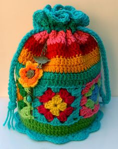 Groovy Textiles: Crochet Dilly Bag ~ free pattern