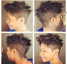 Mohawk - nice - http://www.blackhairinformation.com/community/hairstyle-gallery/relaxed-hairstyles/mohawk-nice/ #shorthair #mohawk