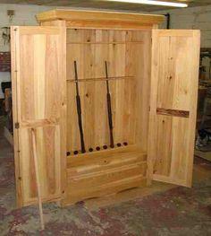 plans homemade gun cabinet