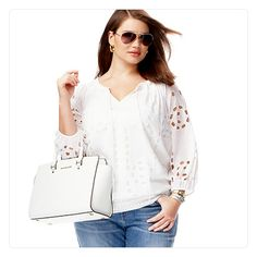 MACY'S PLUS SIZE SPRING 2014 TREND REPORT: WHITE LIGHT airy fabrics and silhouettes make a fresh impact.