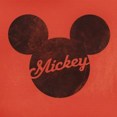 """Mickey Icon"" Design by Robbie Thiessen #mickeymouse #icon #graphicdesign #typography #disney"
