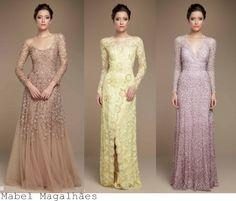 Madrinhas de casamento: Vestidos de festa de manha comprida
