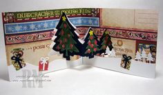 Raquel Mason using the Pop it Ups Evergreen Pivot Card and Outdoor Edges dies by Karen Burniston for Elizabeth Craft Designs. - Raquel's Stampin' Blog: Pop It Ups Evergreen Pivot Card