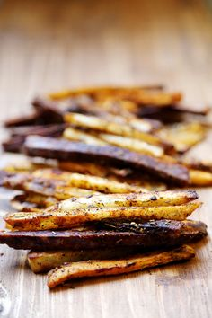 Party Baked Fries (Potato, Sweet Potato, Purple Yam & Parsnip) - Recipes, Starch Foods - Divine Healthy Food