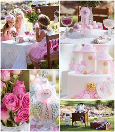 Vintage Princess themed birthday Tea Party with Lots of REALLY CUTE IDEAS via Kara's Party Ideas | Cake, decor, cupcakes, games and more! Ka...