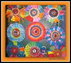 Concentric Circle Weavings in Elementary School via RainbowsWithinReach