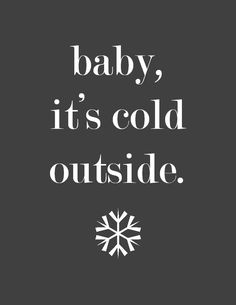 Simple & free wintertime printable. Cute to put in a frame for the holidays!