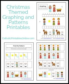 Christmas Math Printables: Graphing and Patterns (free download)
