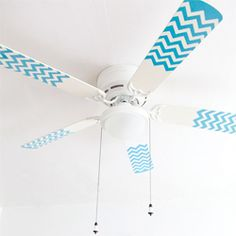 A great way to spice up a boring ceiling fan. (via designsponge)