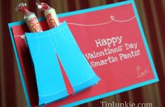 Free Printable 3-D card and Pants Candy Card...adorable.