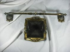 Victorian Style Bath Bronze Towel Bar & Paper Holder Vintage Reproduction Decor