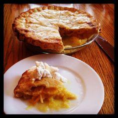 Meyer Lemon Shaker Pie by @dnlclln