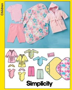 Simplicity 3711 cute infant robe pattern. Nice shower gift?