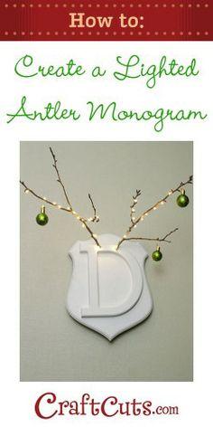 Lighted Antler Monogram | CraftCuts