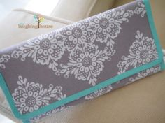 Cash Budgeting Purse Linda Lace in Grey by thelaughinghouse, $30.99