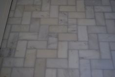 Whisper Grey Grout & M. S. International Inc. Greecian White 3 in. x 6 in. Marble Floor and Wall Tile (1 sq.   Bathroom tile