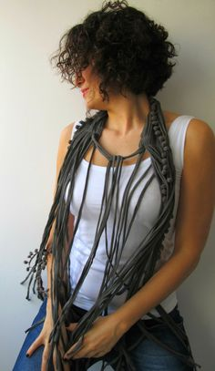 Love this scarf/tank combo