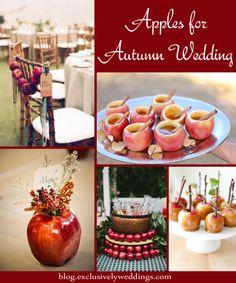 Apples for Autumn Wedding Decor