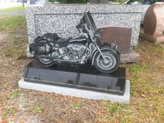 This Harley-Davidson tombstone doesn't belong to anyone yet, but it sure is neat.
