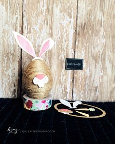 BSaz Creates | Mini Easter Photo Booth Egg w Props #silhouettedesignteam