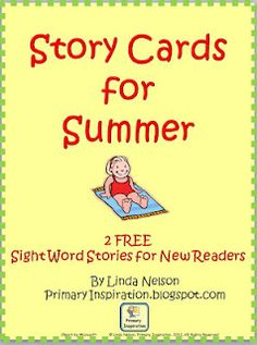 FREE summer story cards for new readers