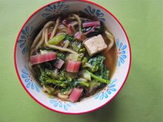 Albion Cooks: Noodle Soup with Tofu, Broccolini & Chard Stems