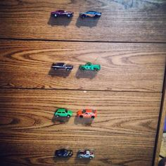 Used some hot wheels cars to replace broken dresser handles for my sons room. So cute!