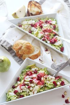 roasted cranberry brussels sprout salad // Yes I want Cake