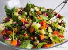 Black Bean Chaat Salad