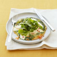 Get the recipe for Arugula & Pesto Pizzas.