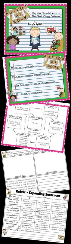 Rockin Teacher Materials: Expanded Sentence Examples & a FREEBIE for Spelling!