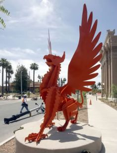 Griffin sculpture