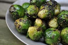 grilled brussels sprouts - these can also be baked w/ olive oil & garlic salt.  Delish!