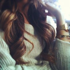 curls + sweater