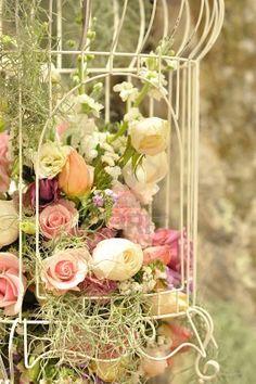 vintage jaula decoracion flowers