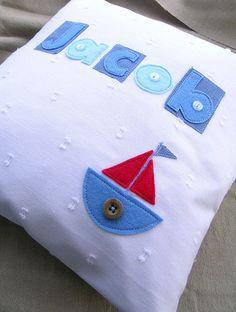 felt boat pillow