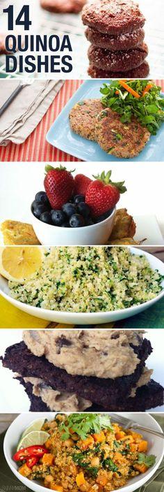 so many good recipes! i love quinoa